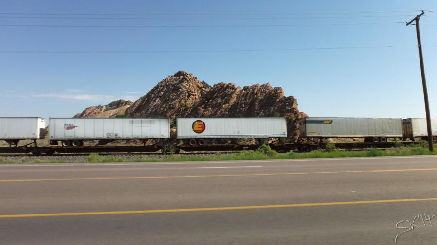 trailers on trains?